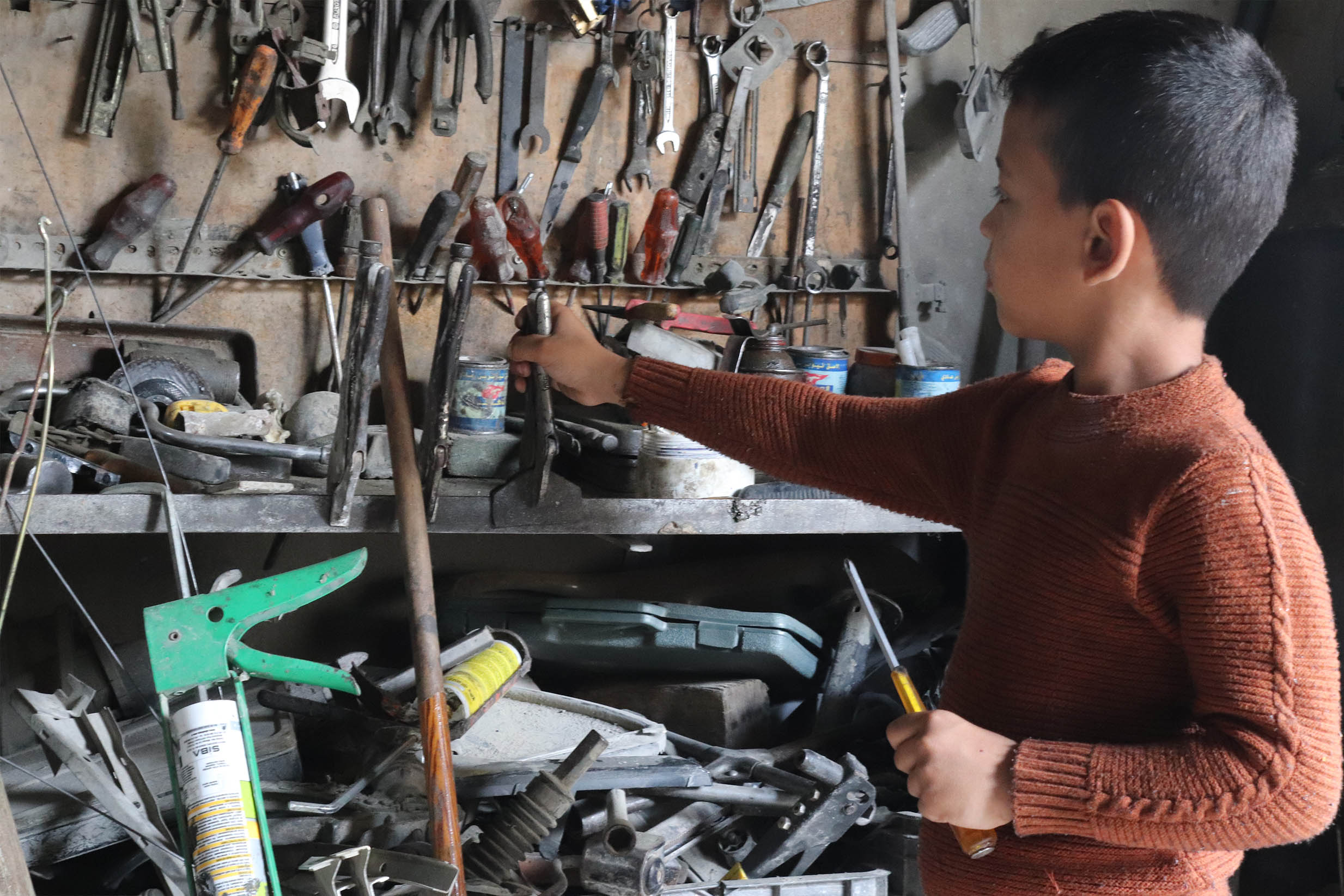 A Nine-Year Old Palestinian Worker